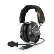 AIRSOFT Z tactical Sordin Headset MIC BOOM RADIO WOODLAND UK