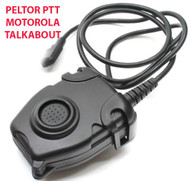 Tomtac Peltor Ptt Black 2 Way Radio Switch Sordins Comtac Motorola 1 Pin