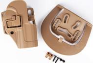 Cqc Serpa Pistol Belt Hard Holster For 1911 Tan Sand Uk