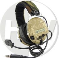 AIRSOFT TOMTAC SORDIN HEADSET MIC BOOM RADIO MSA DESIGN WOODLAND AOR1 DD