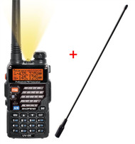2 Way Dual Band Radio Baofeng Uv-5R + Long Whip Aerial