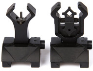 AIRSOFT FRONT BACK FLIPUP SIGHTS M4 IRON SIGHT BLACK FLIP UP DIAMOND TROY STYLE