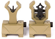 Front Back Flipup Sights  Iron Sight Tan De Flip Up Diamond Troy Style