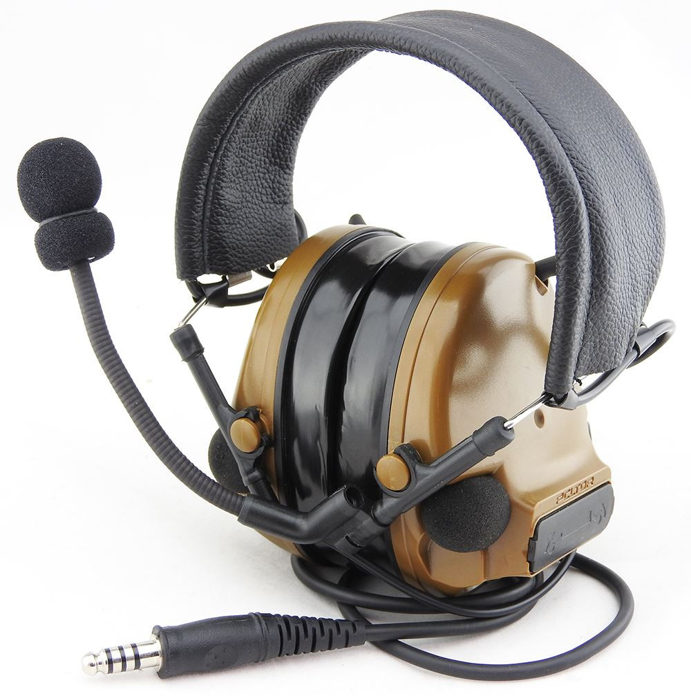68b00de58dd AIRSOFT TOMTAC COMTAC III 3 HEADSET MIC BOOM RADIO PELTOR DESIGN TAN LEFT  RIGHT. Price: £73.95. Image 1. Larger / More Photos