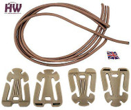 Airsoft Itw Style Web Dominator Molle Elastic Holder Clips Set Tan Sand De