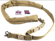 AIRSOFT SLING SINGLE POINT BUNGEE TAN SAND BROWN DE HIGH QUALITY UK