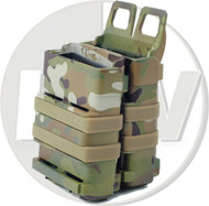 AIRSOFT MULTICAM MC MTP MOLLE FAST M4 SCAR MAGAZINE POUCH HARD DOUBLE GEN 3 5.56