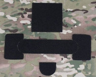 AIRSOFT MICH HELMET REPLACEMENT VELCRO SET FOR MANTA STROBE ETC BLACK UK