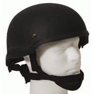 AIRSOFT MICH 2002 TACTICAL HELMET BLACK FIBREGLASS UK