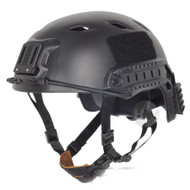 AIRSOFT BLACK SWAT CORE OPS TACTICAL HELMET JUMP UK FAST DELIVERY RAIL