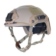 AIRSOFT OPS CORE TAN SAND DE SWAT TACTICAL MARITIME ABS HELMET JUMP RAIL M/L