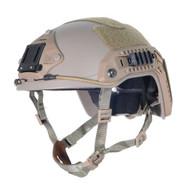 AIRSOFT OPS CORE TAN SAND DE SWAT TACTICAL MARITIME ABS HELMET JUMP RAIL L/XL
