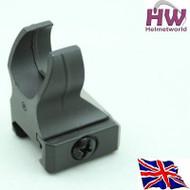 AIRSOFT 20MM M4 IRON BATTLE HK416 RAIL METAL FRONT SIGHT BLACK ADJUSTABLE UK