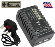 AIRSOFT BATTERY CHARGER  BALANCER TOMTAC 11.1V 7.4V 2 3 CELL LIPO mains UK PLUG