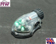 AIRSOFT LIGHT FLASHLIGHT IR GREEN HELMET MANTA STROBE BLACK UK