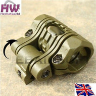 "Airsoft Flashlight Mount Light Led Torch Rail 20Mm 1"" Green Od Holder Uk Element"