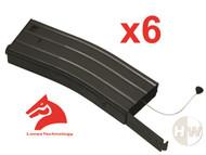 M4 M16 Scar Metal Black Lonex Flash Magazine Mag 360Rds Asg X6 Pull Cord