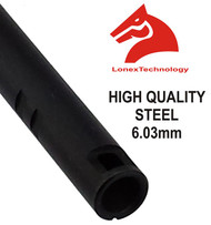 AIRSOFT INNER BARREL 6.01 6.3 6.03 TIGHT BORE UK 455 MM STEEL LONEX ASG M4 MP5