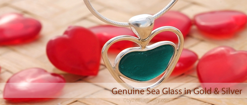 Jewelry for Beach Lovers - Genuine Sea Glass in Gold & Silver