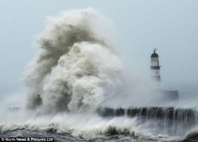 Seaham Beach during storm - Photo curtosey of North News & Pictures