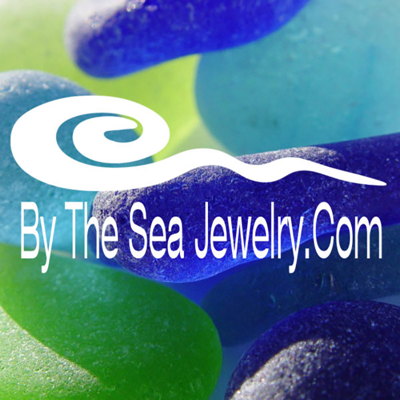vivid sea glass logo for by the sea jewelry