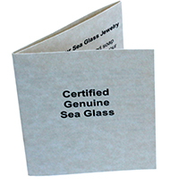 Genuine Sea Glass Informational Card