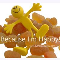 Vivid Golden or Yellow Sea Glass - Because I'm Happy ©Bytheseajewelry.com