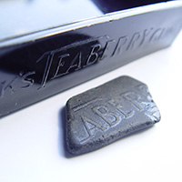 Black Sea Glass with Teaberry Embossed Logo