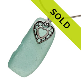 Sorry this aqua sea glass necklace has SOLD!