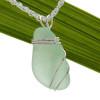 A beautiful simple sea glass pendant in silver