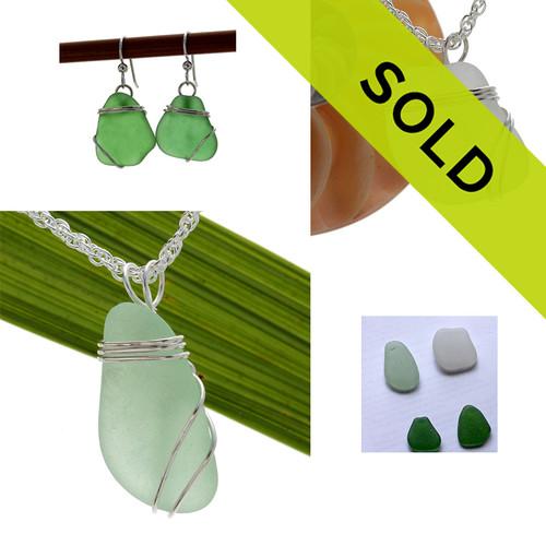 Custom work from supplied sea glass
