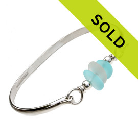 Sorry this sea glass bangle bracelet has sold!