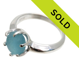 Sorry this one of a kind sea glass ring has been sold!