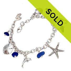Sorry this sea glass bracelet has been sold!