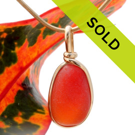 Sorry this ultra rare orange sea glass jewelry piece has been sold!