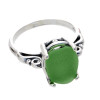 Stunning natural sea glass set in a solid sterling sea glass ring, great for any sea glass lover!