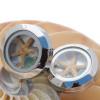 NEW ITEM - Aqua Blue sea glass in mini locket cufflinks with real mini starfish Great for a lady or man!