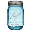 A lot of aqua sea glass originated from Ball canning jars used during the early 1900's to preserve food.
