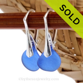 Simple and elegant these blue sea glass earrings are bound to get you compliments! Sorry this sea glass jewelry selection has been sold!