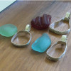 We can set just about any size or type of sea glass you may have.