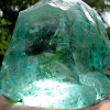 Many sea glass pieces from this region are very thick and round and started out as slag or cullet glass.