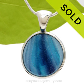 This an Ultra Ultra rare HUGE Seaham Sea Glass Mixed blue & purple necklace pendant is set in our Deluxe Wire Bezel© pendant setting. Sorry this Ultra Rare Sea Glass Jewelry selection has been sold!