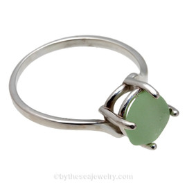 A stunning seafoam green sea glass ring perfect for any sea glass lover!