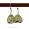 A simple pair of genuine sea glass earrings, great for any true beach lover!~