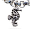 Solid Sterling Detailed Large Seahorse Charm