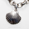 Solid Sterling Shell Charm