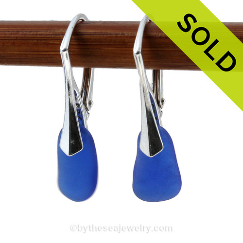 Simple and elegant these small genuine blue sea glass earrings are bound to get you compliments! SOLD - Sorry This Sea Glass Jewelry Selection Is NO LONGER AVAILABLE
