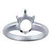 This solid sterling silver 6 prong ring securely sets the glass yet lets us remove the glass for resizing.