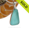 This is a beautiful Aqua Blue Sea Glass set in our Original Wire Bezel© pendant setting in Sterling Silver. SOLD - Sorry this Rare Sea Glass Pendant is NO LONGER AVAILABLE!