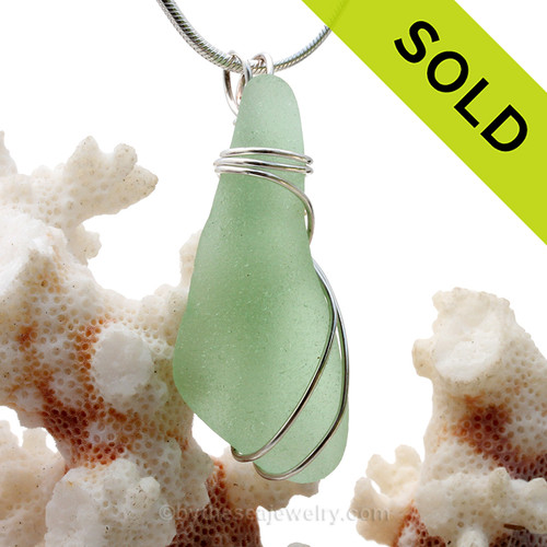A large thick piece of amber brown sea glass set in our triple sterling silver setting. SOLD - Sorry this Sea Glass Pendant is NO LONGER AVAILABLE!